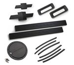 2010-2011 Camaro LT Exterior Kit ( Door Sills, Front & Rear Bowties, Side Vent Gills, Reverse Lights, Fuel Door) - Black