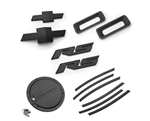 2010 - 2011 Camaro RS Exterior Kit (RS Badges, Front & Rear Bowties, Side Vent Gills, Reverse Lights, Fuel Door) - Black