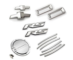 2010 - 2011 Camaro RS Exterior Kit (RS Badges, Front & Rear Bowties, Side Vent Gills, Reverse Lights, Fuel Door) - Chrome