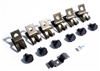 "1969 Camaro Correct Fuel Gas Line Clips Set with Bolts, 3/8"" and 1/4"" Vent"