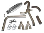 1998 - 2002 Camaro Exhaust System, Loud Mouth 1 for LS1 with 2.5 Inch Dual Splitter Tips