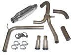 1998 - 2002 Camaro Exhaust System, Loud Mouth 1 for LS1 with 3.5 Inch Slash Tips