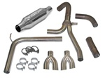 1998 - 2002 Camaro Exhaust System, Loud Mouth II for LS1 with 2.5 Inch Dual Splitter Tips