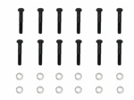 1967 - 1981 Small Block Chevy Camaro Exhaust Manifold Bolts Set with Washers, 24 Pieces