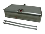 1969 Fuel Gas Tank, Narrow, Stainless Steel, Carbureted