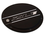 "2010 - 2011 Camaro ""ZL1"" Logo Locking Fuel Door - Two Tone (Black and Chrome)"