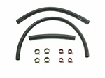 1969 - 1981 Camaro Fuel Gas Line Hoses Set, 3/8 Inch, 1/4 Inch Return, Clamps Included