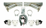 "Pypes Universal Electric Exhaust Cutout Kit with 2.5"" Stainless Steel Y-Pipes"