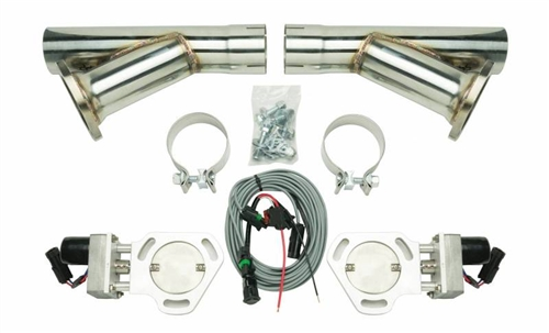Car Exhaust /& Exhaust Systems High Performance 2.5 Headers Y Pipe Electric Exhaust Cutout Downpipe E-Cut Cut Out Valve Kit with Manual Switch Grille