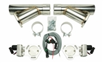 "Pypes Universal Electric Exhaust Cutout Kit with 3"" Stainless Steel Y-Pipes"