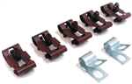 1967 - 1968 Camaro Fuel Gas Line Clips Set, 3/8 Inch for Single Line, 7 Pieces