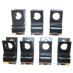 1969 Camaro Fuel Gas Line Clips Set, 3/8 Inch