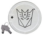 2010 - 2011 Camaro Transformers Decepticon Locking Fuel Door - Chrome