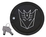 2010 - 2011 Camaro Transformers Decepticon Locking Fuel Door - Chrome and Black
