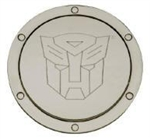 2010 - 2011 Camaro Transformers Autobot Non-Locking Fuel Door - Chrome