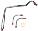 1967 - 1968 Fuel Gas Lines set, Pump to Carburetor, 302 Z28, Y-Block Included