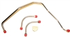 1969 - 1972 Camaro Gas Lines Set, Fuel Pump to Carburetor, 302 and 350 Z28 with Dual Feed Holley