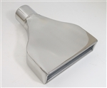 "Exhaust Tail Pipe Tip, Custom Stainless Steel with 2.5"" Center Inlet, Each"