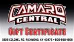 Camaro Central Gift Certificate / Gift Card