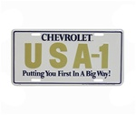 "License Plate, CHEVROLET USA-1 "" Putting You First In A Big Way """