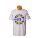 "T-Shirt,  ""SUPER CHEVROLET SERVICE"" Ash Color Shirt"