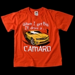 "KIDS ""WHEN I GET BIG"" NEW CAMARO T-SHIRT"