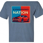 T-Shirt, 5th Generation Camaro Nation, Red, White, and Blue