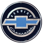 Sign, Metal, Genuine Chevrolet, with Blue Bowtie