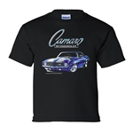 Kids 1969 Camaro Youth Sizes Black T-Shirt