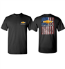 T-Shirt, Chevy Bowtie American Flag, Black