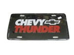 License Plate, Chevy Thunder with Bow Tie Logo
