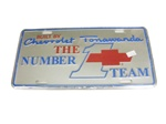 Chevrolet Tonawanda Number 1 Team License Plate