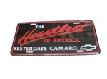 The Heartbeat of America Yesterdays Camaro License Plate