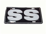 SS Black and White License Plate