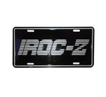 License Plate, IROC-Z, Black with Silver
