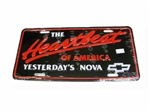 The Heartbeat of America Yesterdays Nova License Plate