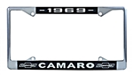 1969 Camaro License Plate Frame with Bowtie