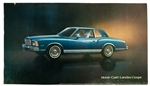 1978 Monte Carlo Landau Coupe Dealership Showroom Sign Poster Print, GM Original