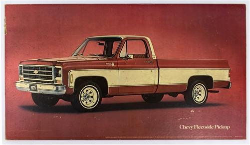 1979 Chevy Truck >> 1979 Chevy Fleetside Pickup Dealership Showroom Sign Poster Print Gm Original