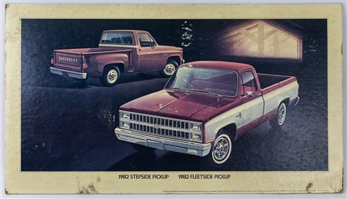1982 Chevrolet Pickups Dealership Showroom Sign Poster Print Gm
