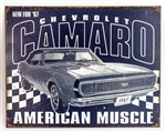 Chevrolet Camaro American Muscle Metal Sign