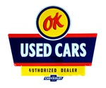 Sign, Metal Tin, OK USED CARS AUTHORIZED DEALER CHEVROLET