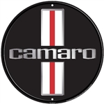 Camaro Metal Tin Sign, 12 Inch Diameter