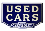 Sign, USED CARS - CHEVROLET 23.5 Inch x 15.5 Inch