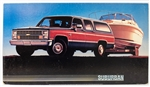 1988 Chevrolet Suburban Dealership Showroom Sign Poster Print, GM Original