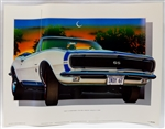1967 Camaro Pace Car Print, New Old Stock