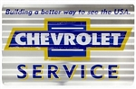 Chevrolet Service Corrugated Metal Large Tin Sign