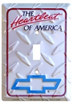 Light Switch Plate, Chevy Heartbeat Silver