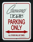 ***Discontinued*** Sign, Camaro RS Parking Only