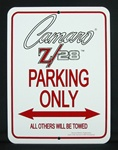 Sign, Camaro Z/28 Parking Only